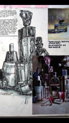 Arts Ed, Gcse Art, Bottle Art, Art Sketchbook, Design Process, Uni, Still Life, Shadows, Perspective