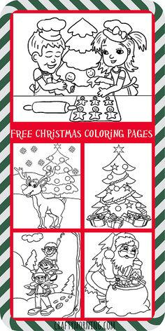 585 Best Christmas Coloring Pages Images Christmas Activities For