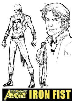 Iron Fist concept sketches