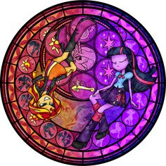 Stained Glass: Between Day and Night -Vector- by Akili-Amethyst.deviantart.com on @deviantART