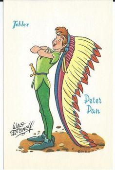 CPA-Carte-postale-TOBLER-Walt-Disney-Peter-Pan-Postcard