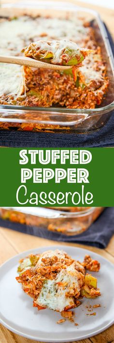 Stuffed Pepper Casserole Stuffed Pepper Casserole: Flavorful beef, and saucy rice topped with plenty of cheese. Easier and faster, to make than stuffed peppers! via Baking Beauty (Krystle) Entree Recipes, Beef Recipes, Dinner Recipes, Cooking Recipes, Breakfast Recipes, Easy Stuffed Peppers, Stuffed Pepper Casserole, Hamburger Casserole, Casserole Dishes