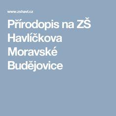 Přírodopis na ZŠ Havlíčkova Moravské Budějovice
