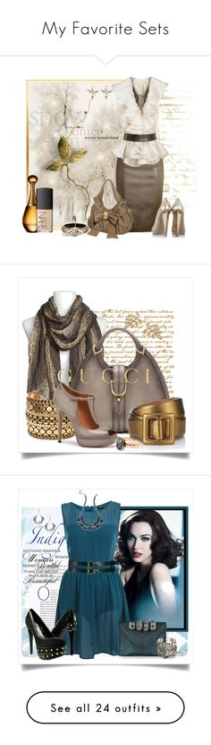 """""""My Favorite Sets"""" by johnna-cameron ❤ liked on Polyvore featuring Moschino Cheap & Chic, Jimmy Choo, Yves Saint Laurent, Luv Aj, Jocasi, Annette Ferdinandsen, Alexis Bittar, Christian Dior, NARS Cosmetics and narscosmetics polyvore polyvoreeditorial"""