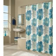 This+shower+curtain+has+a+fresh,+invigorating+design+with+an+aquatic+feel.+#bath