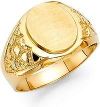 Men Yellow Real Gold Vintage Engraveable Fashion Bridal Wedding Ring Band by RG&D Mens Emerald Rings, Mens Gold Rings, Gold Rings Jewelry, Rings For Men, Anniversary Rings, Yellow Gold Rings, Wedding Ring Bands, Beautiful Rings, Band Rings