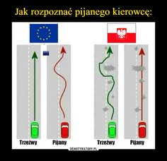 Jak rozpoznać pijanego kierowcę: Wtf Funny, Funny Cute, Hilarious, Funny Images, Funny Pictures, Polish Memes, Stupid Quotes, Funny Mems, My Chemical Romance
