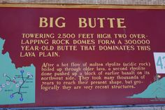 Big Butte geologic history near Arco, Idaho.  ©Photo copyright by Marty Nelson. Photographer website:  http://martynelsonphotoart.wix.com/mn-photo-art
