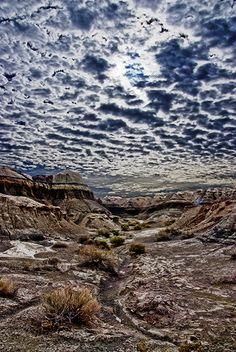 Dawn at Bisti Badlands, New Mexico, USA  Original photograph by Steven Boone