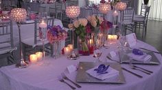 #Sweetheart #Table/ #White #Fortuny #Linens/ #Silver #Square #Chargers/ #White #Sating #Napkins/ #Crystal #Pedestal/ #Purple #Vanda #Orchids/ #Voties #Candles/ #Bath #Club/ #Miami #Catering/ #PCS #Events