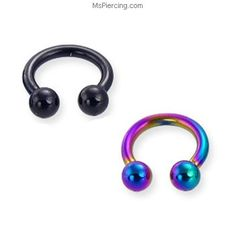 Titanium anodized circular barbell, 6 ga #mspiercing #piercings Septum Piercing Rings, Men's Piercings, Barbell Piercing, Piercing Tattoo, Body Piercing, Belly Rings, Belly Button Rings, Wholesale Body Jewelry, Gold Body Jewellery