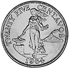 Philippines 25 Centavos reverse