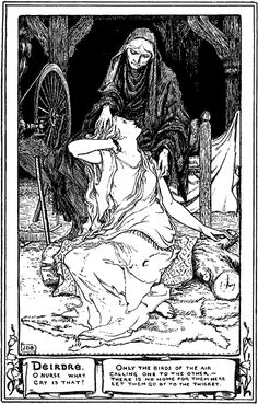 Irish Folklore   Story of Deirdre. Irish Celtic Mythology, Fairy Tale. [Ireland, myths ...
