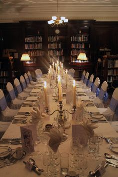 Wine Tasting Dinner in the library