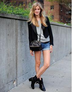 Blazer preto Ankle boots