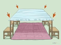 Image titled Make a Blanket Fort Step 14 Sleepover Fort, Sleepover Crafts, Fun Sleepover Ideas, Sleepover Birthday Parties, Sleepover Activities, Girl Sleepover, Soirée Pyjama Party, Pyjamas Party, Diy Festa Do Pijama