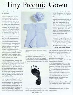 Tiny Preemie gown and smocked bonnet Pattern