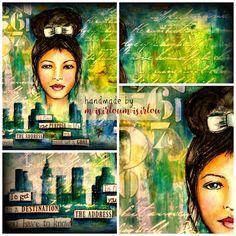 handmade by misirloumisirlou https://www.facebook.com/Misirloumisirlou/  #mixedmedia #whimsical #whimsicalfaces #mixedmediacanvas #acrylics