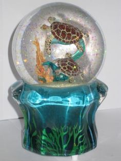 Snow globe sea turtles.