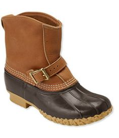 "#LLBean: Women's Tumbled-Leather L.L.Bean Boots, 7"" Lounger"