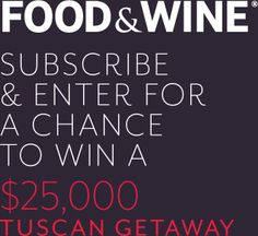 Enter to win in the sargento snacks healthy lifestyle monthly food wine a 2500000 tuscan getaway is the grand prize forumfinder Image collections