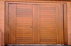 Portão de Madeira EP-313 pode ser revistido com madeira ipê ou jatoba no desenho vertical, diagonal, espinha de peixe ou losango (assoalho, deck ou lambril).