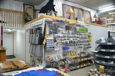 The Tool and Craft Supply Wall. As you can see, we have room for expansion which is exactly what we are doing! www.theleatherguy.org