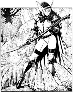 Sif by Arthur Adams Comic Art
