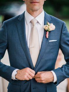 Groom wedding attire - Fabulous wedding boutonnieres for groom and groomsmen 00062 – Groom wedding attire Blue Groomsmen Suits, Groom And Groomsmen Attire, Groom Outfit, Bridesmaids And Groomsmen, Groom Suits, Navy Suit Groom, Navy Blue Groom, Wedding Groom Attire, Groom Attire Rustic