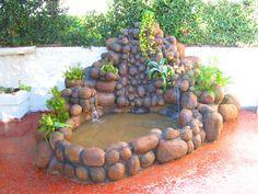 cascata em pedras