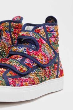 Raf Simons - Velcro Sneaker Floral Multicolor | TRÈS BIEN SHOP