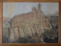 William Congdon, Italy or Orvieto 1954, oil on masonite. From the collection of Hotel Cristallo in Rimini. www.hotelcristallorimini.com
