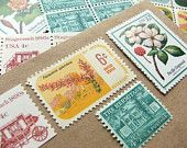 Love this! Vintage postage for special mailings. Verde Studio