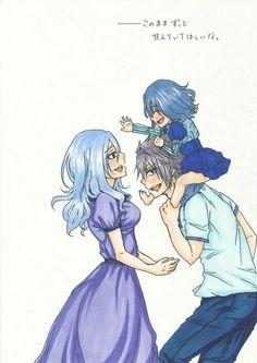 Gruvia Fairy Tail Kids, Fairy Tail Juvia, Fairy Tail Gray, Fairy Tail Love, Fairy Tail Couples, Baby Fairy, Fairy Tail Characters, Anime Characters, Anime Siblings