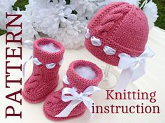 Knitting PATTERN Baby Set Babies Infant Newborn by Solnishko43