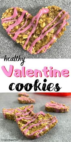 Heart shaped healthy breakfast cookies for kids! Dairy-free, flour-free, refined sugar-free, paleo breakfast cookies for kids perfect for Valentines! Valentine Desserts, Valentines Day Cookies, Breakfast Cookies, Paleo Breakfast, Low Carb Cheesecake, Strawberry Puree, Unsweetened Chocolate, Low Carb Recipes, Meal Recipes