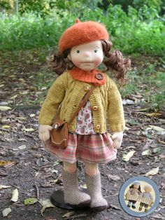 Marysia - natural fiber art doll by Lalinda.pl