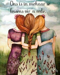 """Three Sisters Best Friends"" by Claudia Tremblay Sisters Art, Three Sisters, Soul Sisters, Sisters Drawing, Three Daughters, Sisters Forever, Friends Forever, Sister Love, To My Daughter"