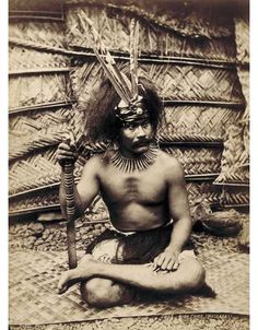 Samoan high chief wearing his traditional headdress, 1900. Traditionally, every Samoan village had a chief council composed of representatives selected by the village's families. The council had the authority to officiate in all community affairs and to pass laws and regulations