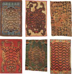 Incredible Tibetan tiger rugs