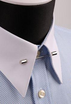 Gümüş Renk Gömlek Yaka İğnesi GI036 - Shirt Pin