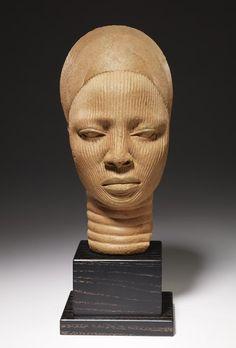 Shrine Head                         Artist Unknown (Ife)       (Nigeria, Africa), 12th-14th century                                    Terracotta