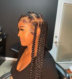 Braided Hairstyles For Black Women, African Braids Hairstyles, Baddie Hairstyles, Braids For Black Hair, Summer Hairstyles, School Hairstyles, Everyday Hairstyles, Prom Hairstyles, Curly Hair Styles