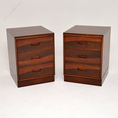 Antiques Atlas - Pair Of Danish Rosewood Vintage Bedside Chests