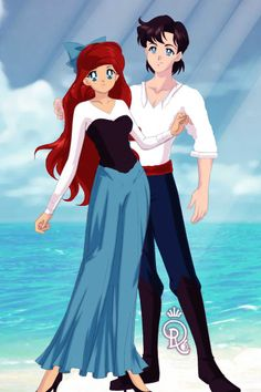 Ariel and Eric by Darkstarchan23 ~ Sailor Moon Dress Up