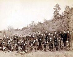 US Infantry unit photo c. US Civil War