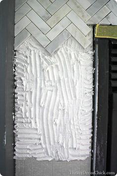 Tips on tiling a #backsplash on a #fireplace