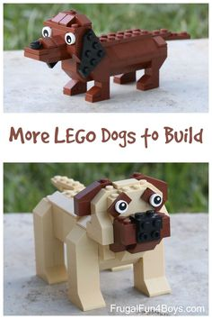 Dachshund and Mastiff Building Instructions More LEGO Dogs to Build! Building instructions for a dachshund and a mastiff.More LEGO Dogs to Build! Building instructions for a dachshund and a mastiff. Lego Duplo, Lego Ninjago, Lego Design, Legos, Lego Dog, Construction Lego, Lego Challenge, Lego Club, Lego Craft