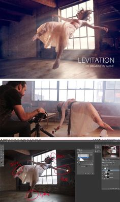 each step required to shoot and retouch 3 different styles of levitation.Learn each step required to shoot and retouch 3 different styles of levitation. Levitation Photography, Surrealism Photography, Photography Lessons, Photoshop Photography, Photography Tutorials, Digital Photography, Photography Essentials, Exposure Photography, Water Photography