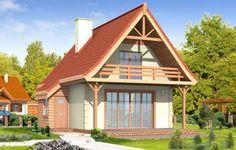 Projekt Chatka to wymarzony dom na działkę rekreacyjną lub do całorocznego zamieszkania dla małej rodziny. Domek mimo niewielkiej powierzchni mieści w sobie wszystkie potrzebne pomieszczenia: na parterze wygodny salon z kominkiem, kuchnią i łazienką, na poddaszu 2 lub 3 sypialnie. W projekcie Chatka zaplanowano dodatkowe wejście z dobudowanego ganku, co pozwala na umieszczenie drzwi wejściowych z przodu lub z tyłu domu.